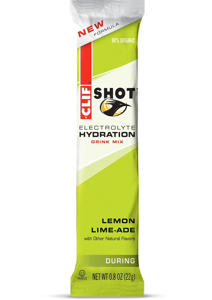 Clif Shot Hydration Lemon-Lime (pose)